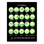 Poster de los humores del tenis postal