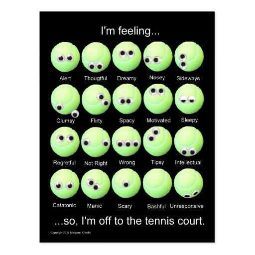 Poster de los humores del tenis
