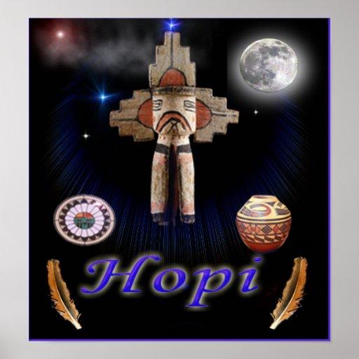 Poster de los indios del Hopi