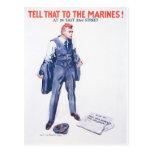 Poster de los infantes de marina de los E.E.U.U. d Tarjeta Postal