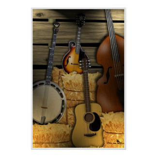 Poster de los instrumentos de Bluegrass