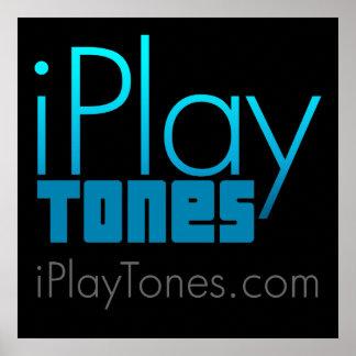 poster de los iPlayTones (negro)