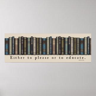 Poster de los libros viejos de la cita de Horacio