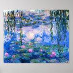 Poster de los lirios de agua de Monet