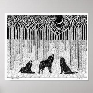 Poster de los lobos del bosque