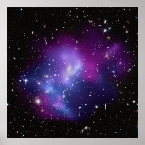 Poster de los MAC J0717 del racimo de la galaxia