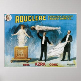 Poster de los magos de Rouclere del vintage