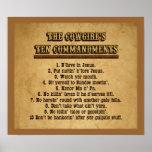 Poster de los mandamientos de la vaquera 10
