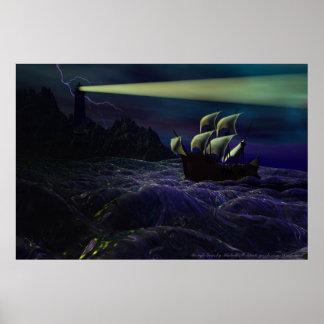 Poster de los mares agitados de Michelle más salva Póster