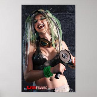 Poster de los melones del hierro (el Femmes estupe