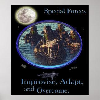 poster de los militares de las fuerzas especiales