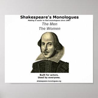 Poster de los monólogos de Shakespeare