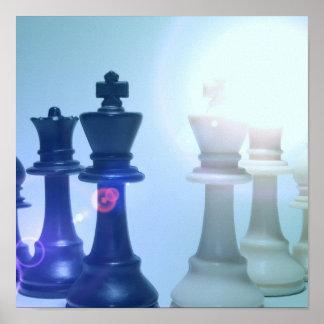 Poster de los movimientos de ajedrez