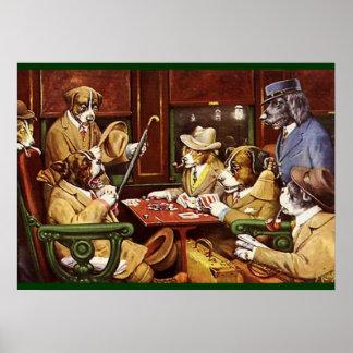 Poster de los naipes de los perros