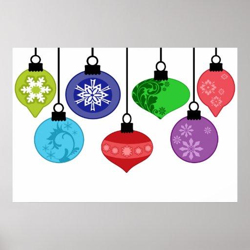 Poster de los ornamentos del navidad