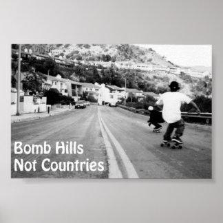 Poster de los países de las colinas de la bomba no