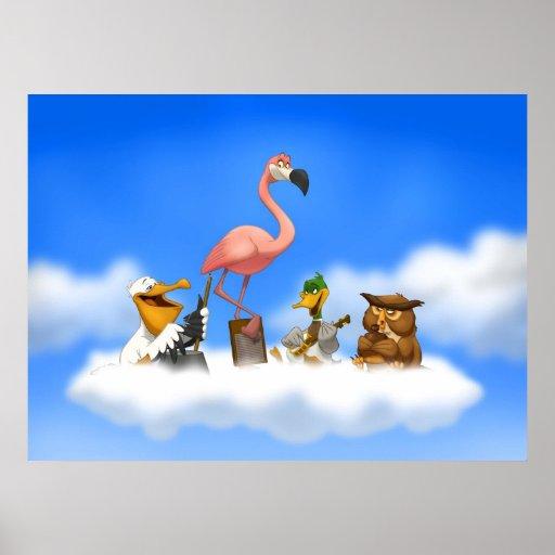 Poster de los pájaros de O de la banda de jarro