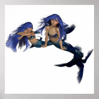 Poster de los pares de la sirena