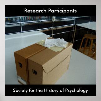 Poster de los participantes de la investigación póster