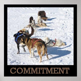 Poster de los perros de trineo del compromiso