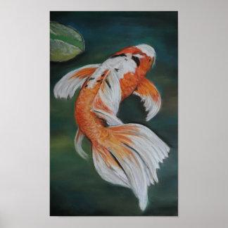 Poster de los pescados de Koi de la mariposa