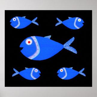 Poster de los pescados del Guppy