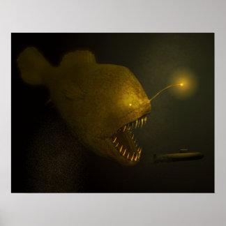 Poster de los pescados del monstruo