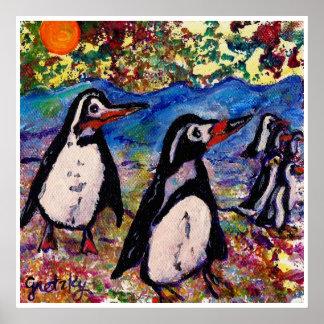 Poster de los pingüinos