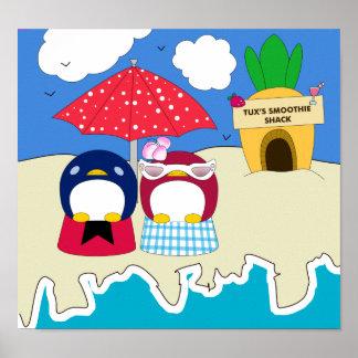 Poster de los pingüinos de Chillin