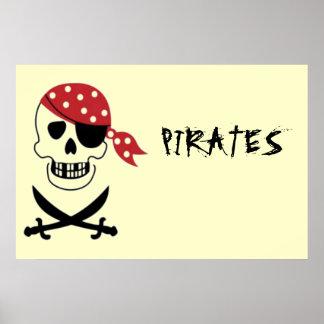 Poster de los piratas del cráneo y de la espada