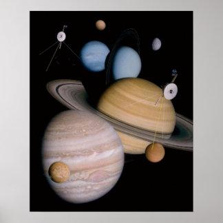 Poster de los planetas del espacio exterior