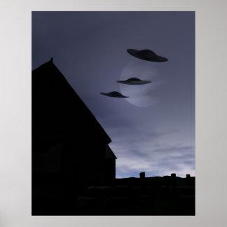 Poster de los platillos volantes