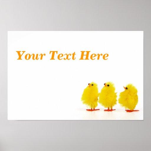 Poster de los polluelos del bebé de Pascua