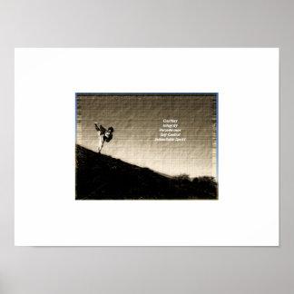 """Poster de los principios del Taekwondo de la """"foto"""