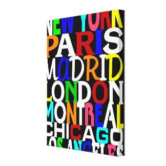 Poster de los puntos calientes de la moda impresión en lona estirada