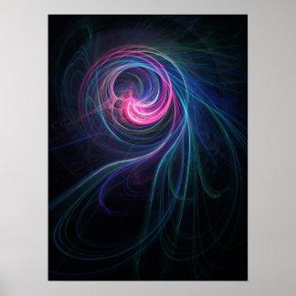 Poster de los rayos del alma que fluye