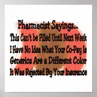 Poster de los refranes del farmacéutico