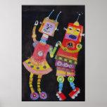 Poster de los robots del baile