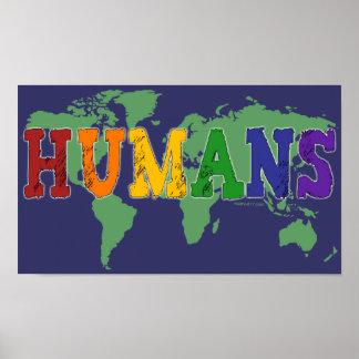 Poster de los seres humanos