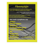 poster de los síntomas del fibromyalgia