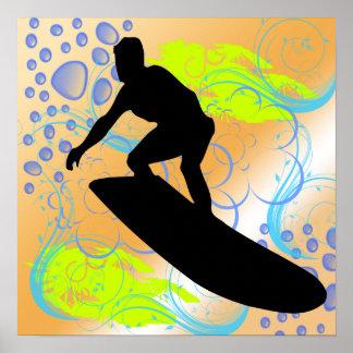 Poster de los sueños que practica surf póster