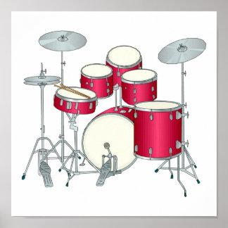 Poster de los tambores rojos
