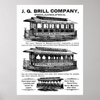 Poster de los tranvías y de las carretillas de