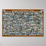 Poster de los tribunales del condado de Texas (hor