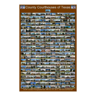 Poster de los tribunales del condado de Texas (ver