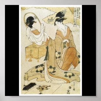 Poster de los últimos 1790's de pintura japoneses