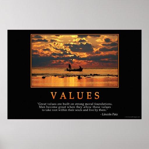 Poster de los valores