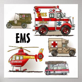 Poster de los vehículos de la ambulancia el ccsme