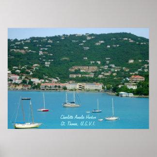 Poster de los veleros de St Thomas
