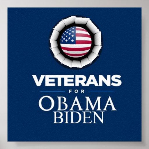 Poster de los VETERANOS de Obama Biden